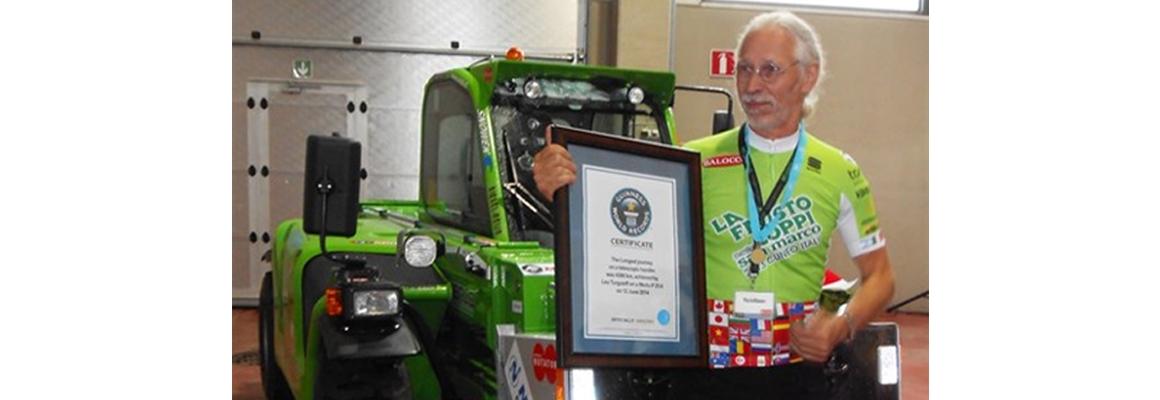 Guinness world record met Merlo verreiker