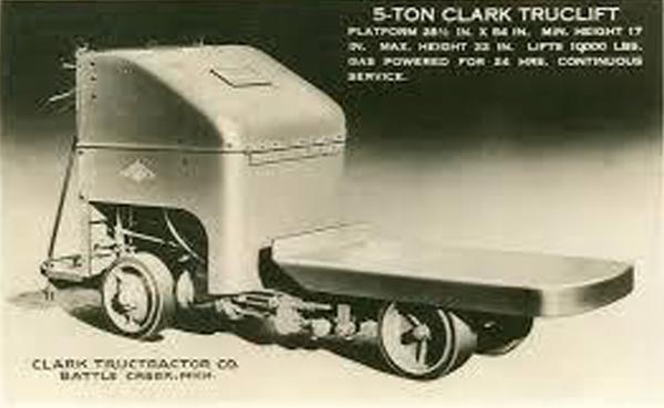 Het ontstaan van de vorkheftruck oftwel Clark