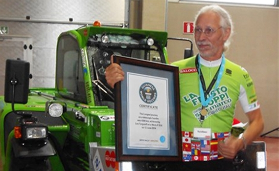 Guinness world record Merlo verreiker